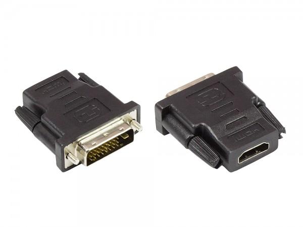 Adapter HDMI 19pol Buchse an DVI 24+1 Stecker, Good Connecti