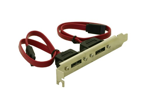 S-ATA Slotblech 2 Port eSATA ADAPTER, Delock® [65116]