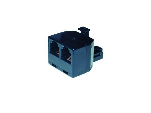 Telefon-Y-Adapter, Kurz, RJ12, Good Connections®