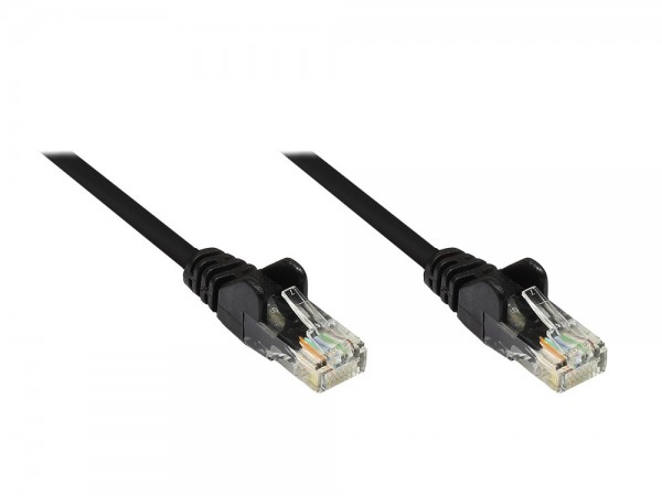 Patchkabel, Cat. 5e, U/UTP, schwarz, 25m, Good Connections®