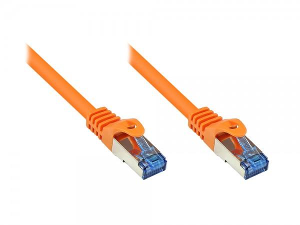 RNS® Patchkabel mit Rastnasenschutz, Cat. 6A, S/FTP, PiMF, halogenfrei, 500MHz, orange, 50m, Good Connections®