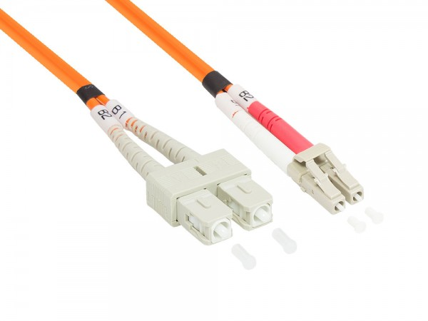 Patchkabel LWL Duplex OM2 (Multimode, 50/125) LC/SC, 3m, Good Connections®
